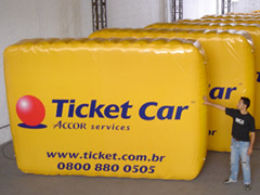 PAINEL INFLÁVEL TICKET CAR